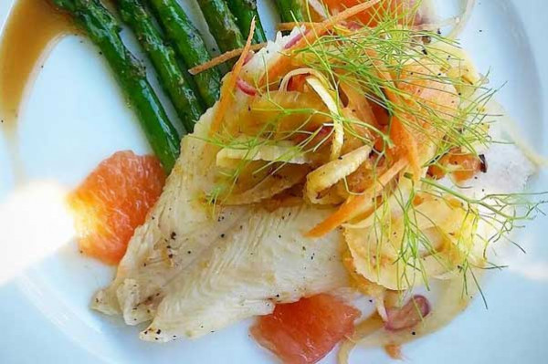 Flounder and fennel